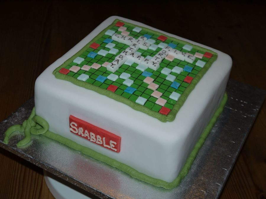 Scrabble Word Game  on Cake Central