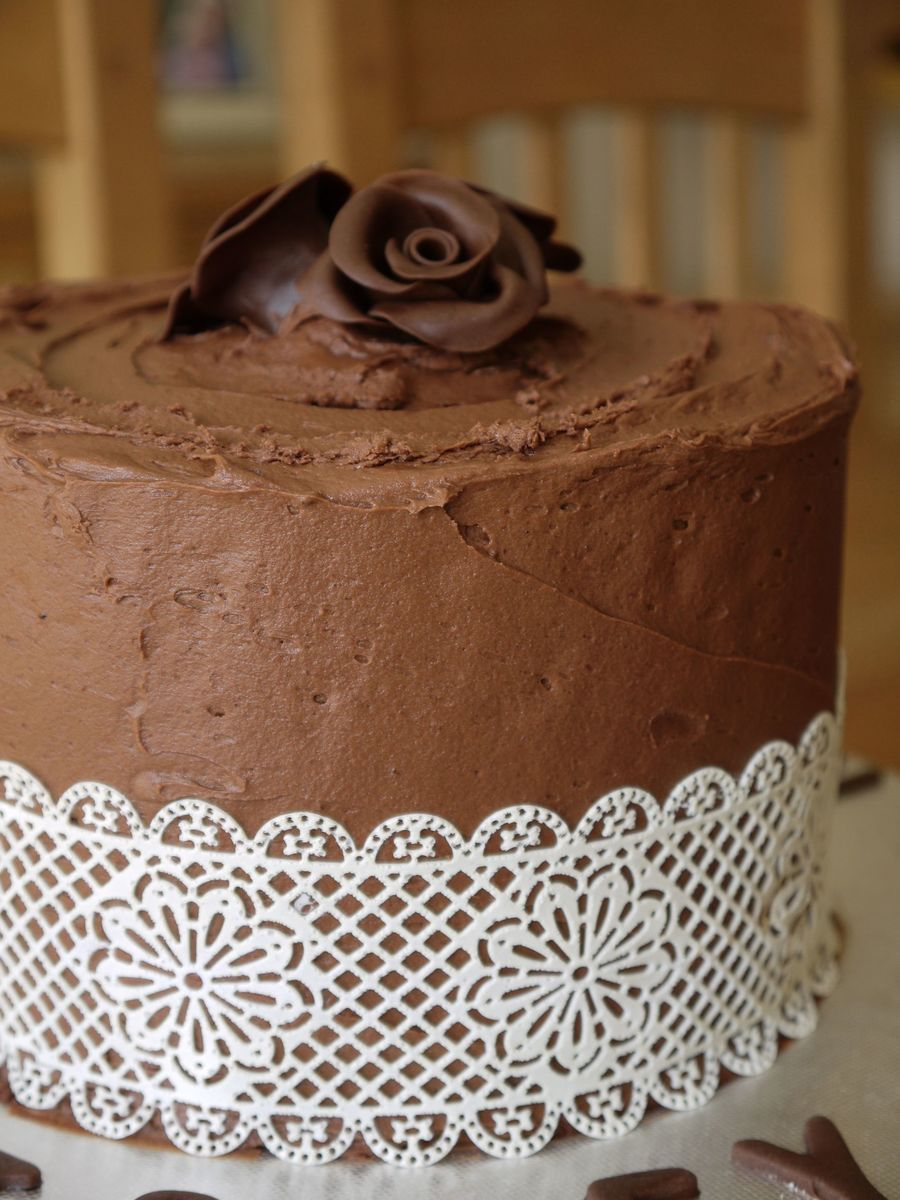First Time Using Cake Lace Love It Chocolate Cake Chocolate ...