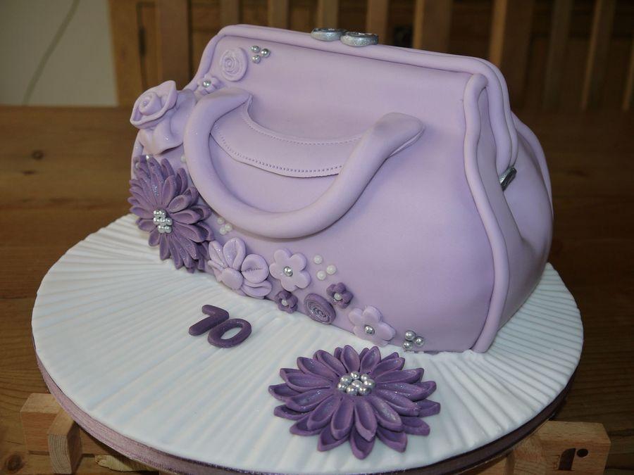 Purple Handbag Cake Cakecentral Com