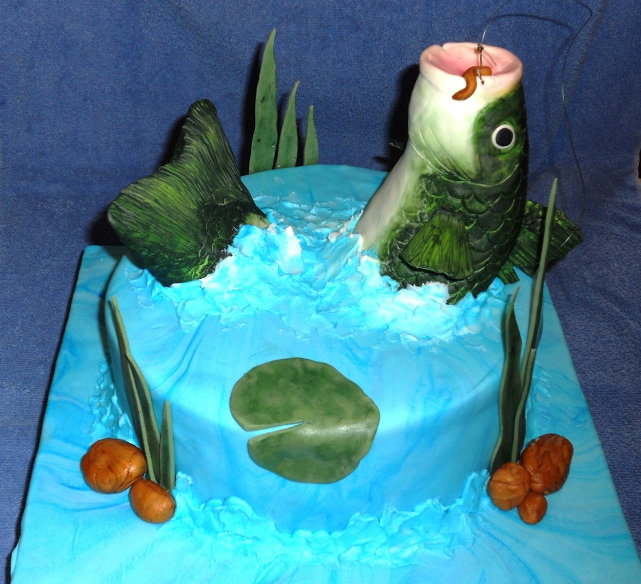 Jumping Bass Cake on Cake Central