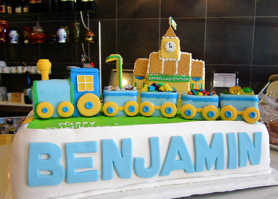 First Birthday Train Cake All Decorations Made With Rkt ...