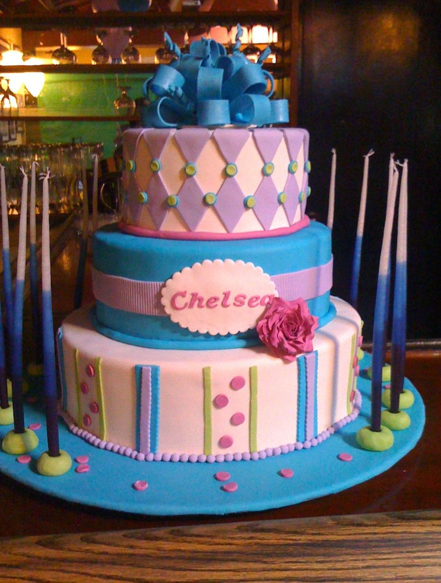 Chelsea's Bat Mitzvah Cake on Cake Central