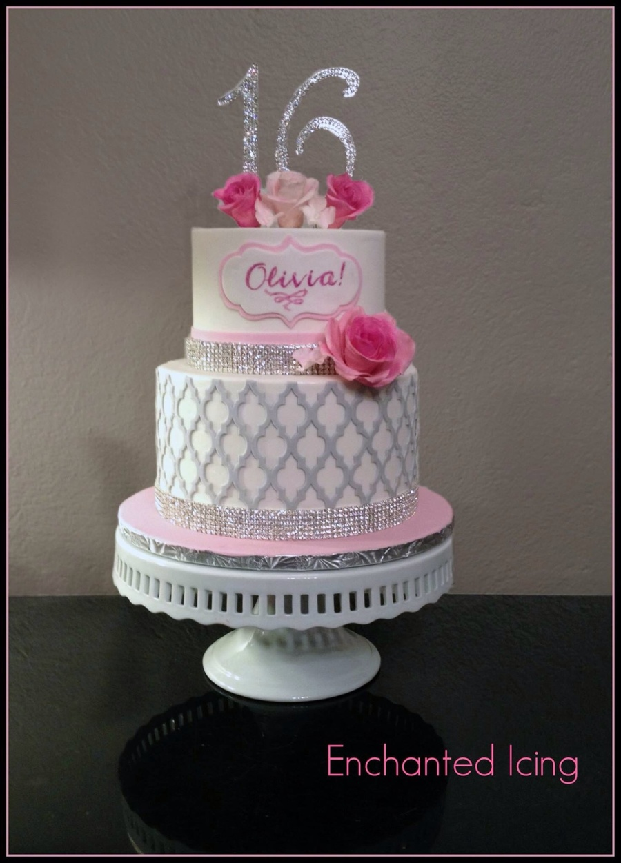Sparkly Sweet 16 on Cake Central
