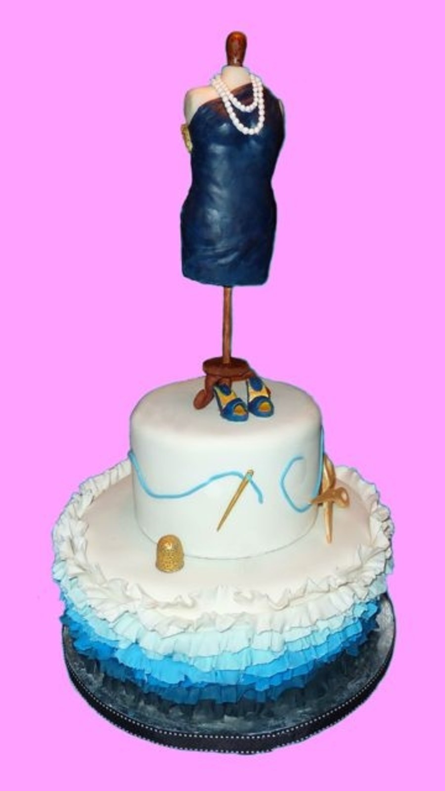 Cake For A Chic Dress Designer Cakecentral Com