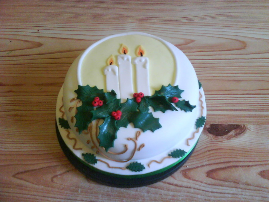 Christmas Candle Cake Images : Christmas Candle Cake - CakeCentral.com