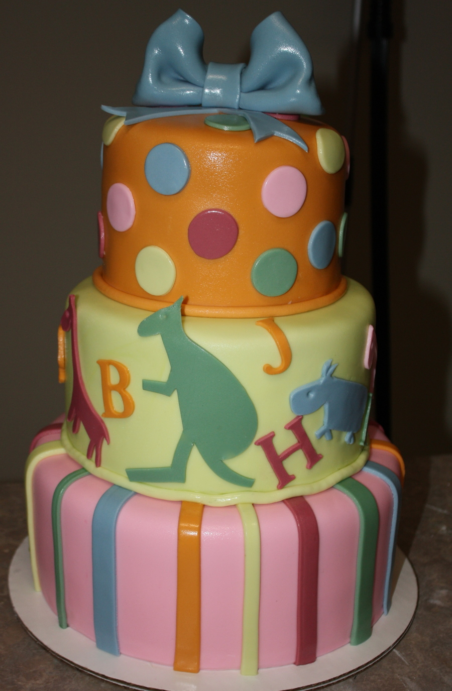 Colorful Baby Shower Cake on Cake Central