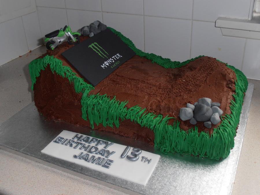 Monster Motocross Cake - CakeCentral.com