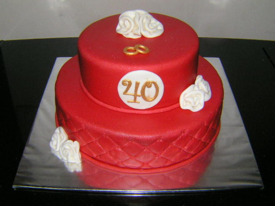 Red Anniversary Cake on Cake Central