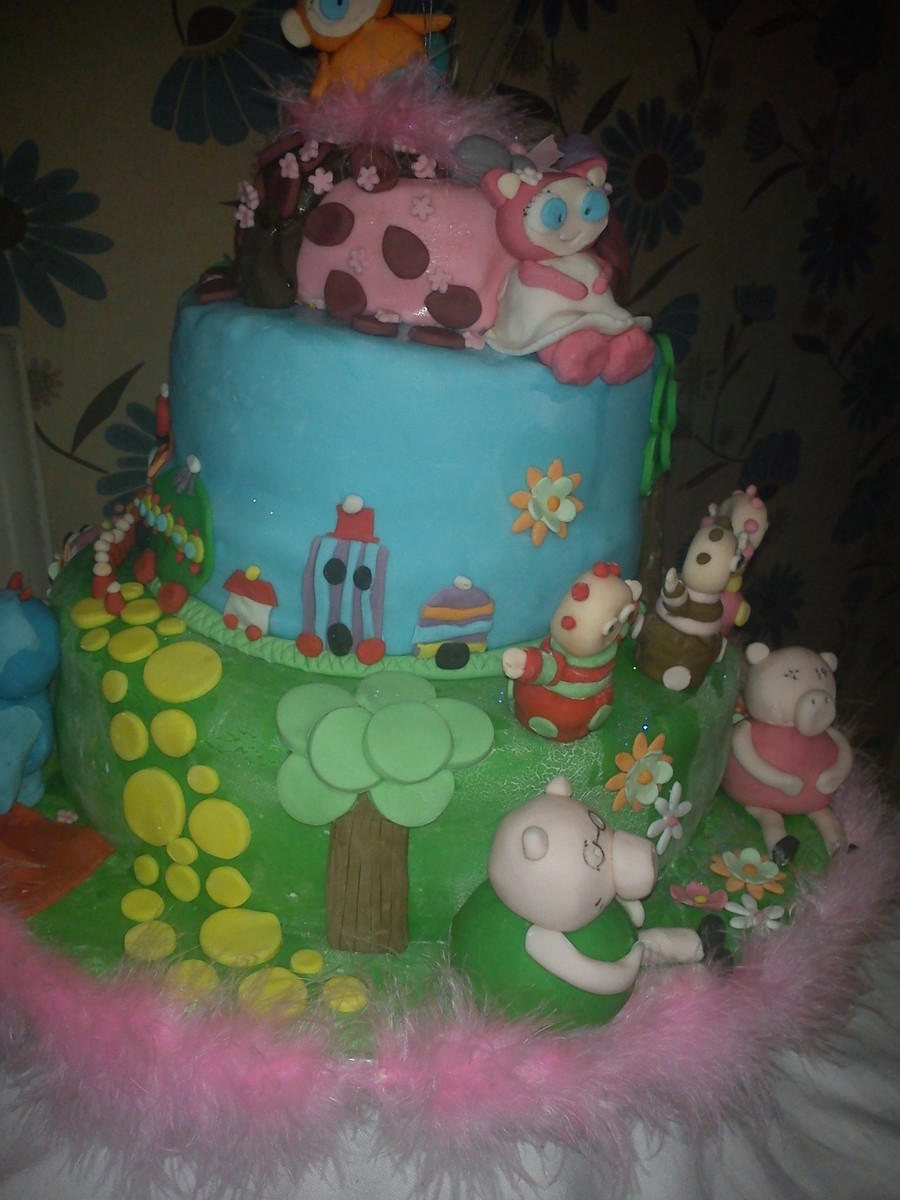 In The Night Garden /waybaloo/peppa Pig Cake on Cake Central