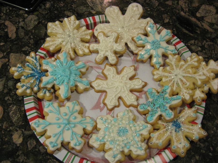 Snowflake Sugar Cookies on Cake Central