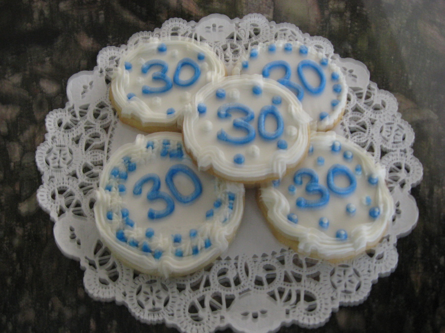 Sugar Cookies For 30Th B-Day on Cake Central
