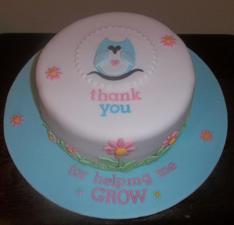 Thank You Cake For My Granddaughters Teachers on Cake Central