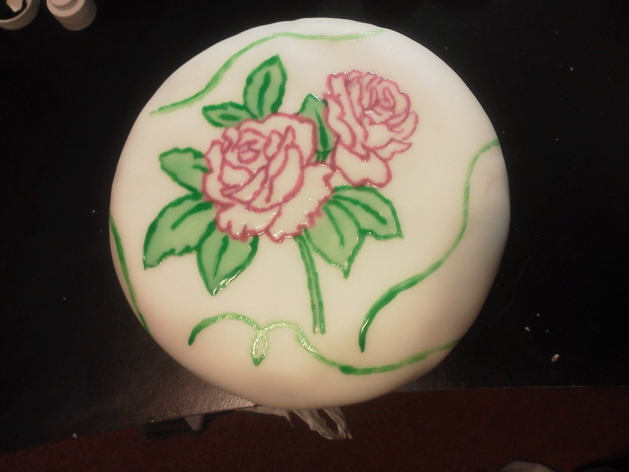 Hand Painted Flowers on Cake Central