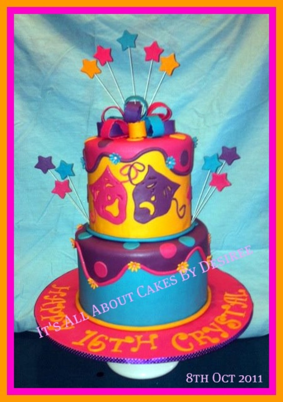 Drama Themed 16th Birthday Cake Cakecentral Com