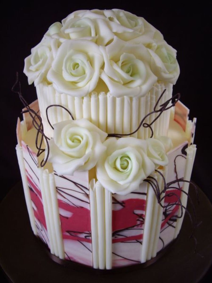 White Chocolate Roses Cakecentral Com