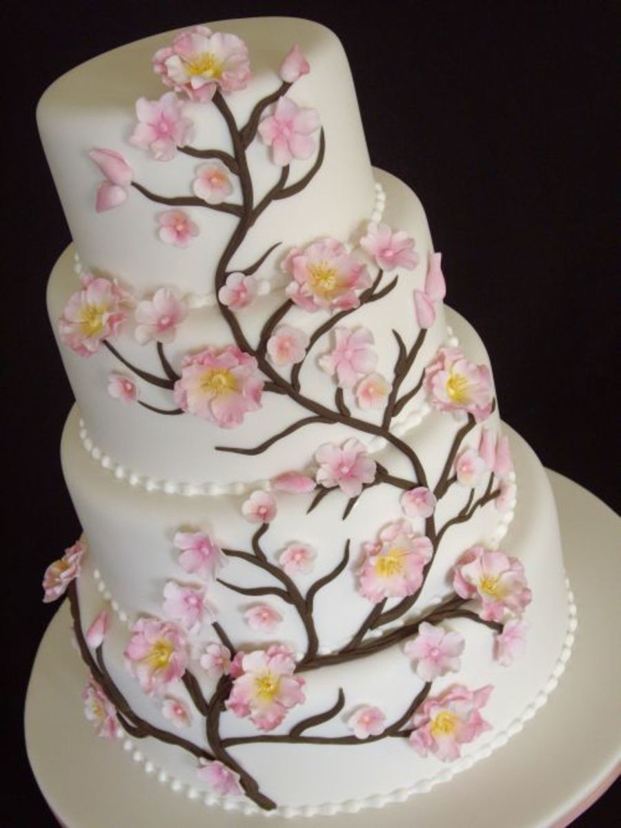 peach wedding cake gallery blossom wedding cake cakecentral 18146