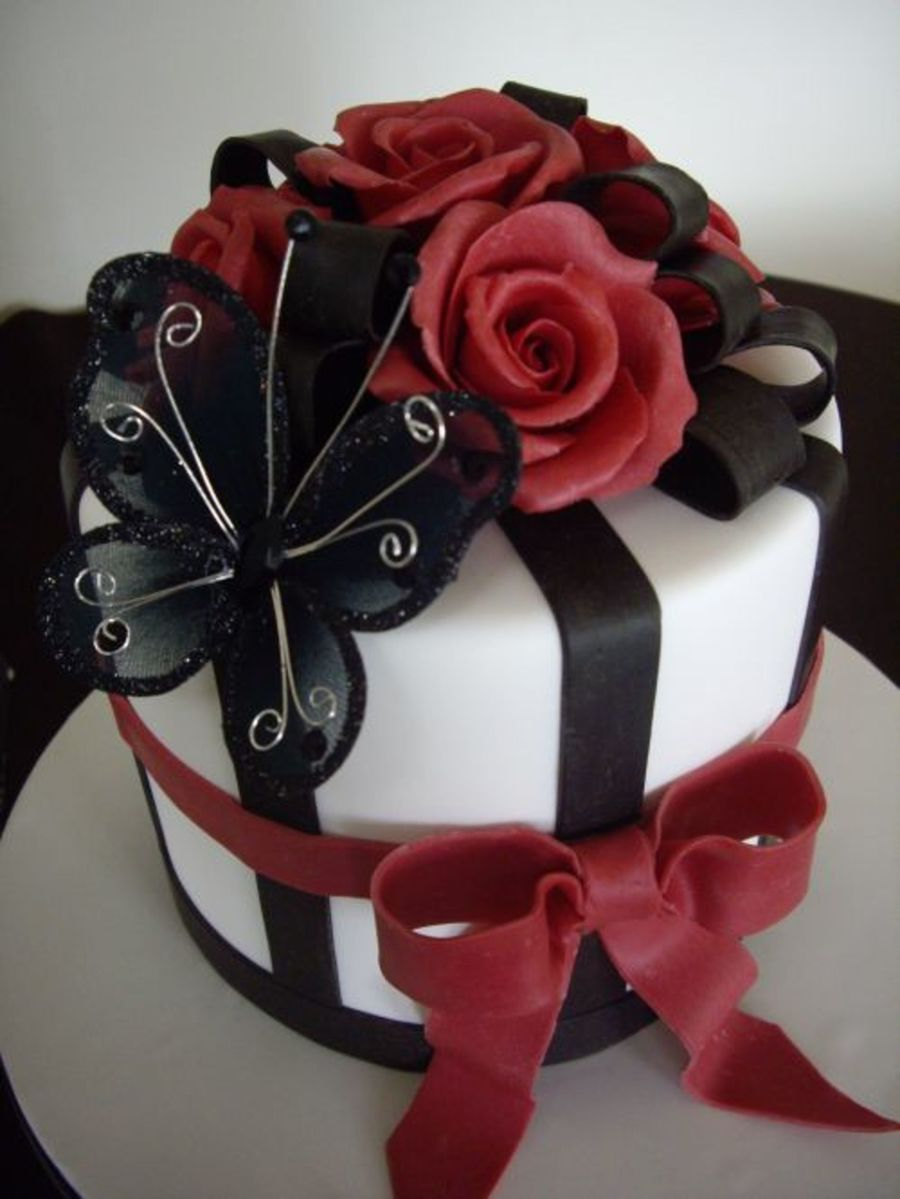 Roses And Bows on Cake Central
