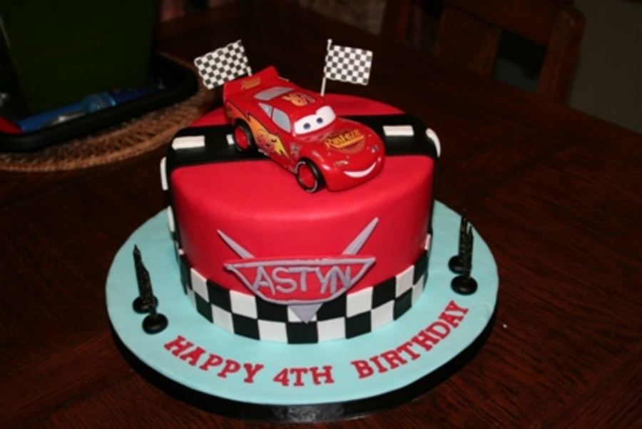 Cars Themed Birthday Cake - CakeCentral.com