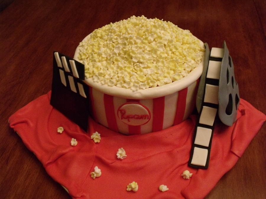 Movie And Popcorn on Cake Central