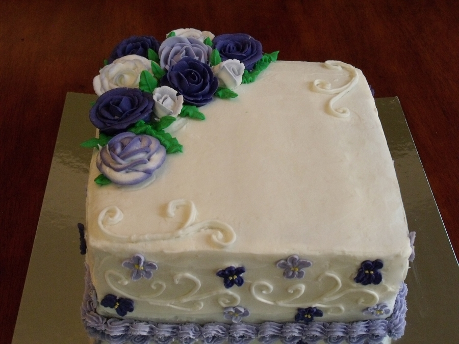 Purple Roses on Cake Central