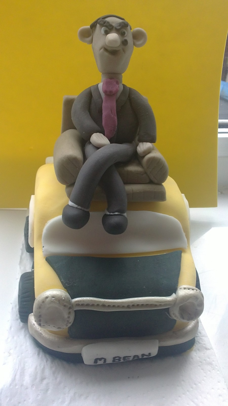 Mr Bean On Car Cake Topper on Cake Central