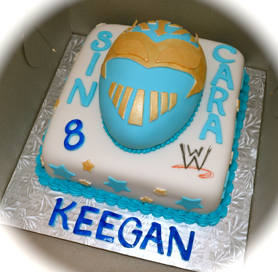 Sin Cara Wwe Birthday Cake CakeCentralcom