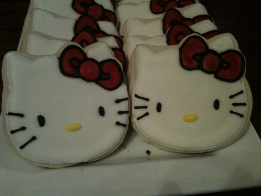 Hello Kitty Sugar Cookies on Cake Central