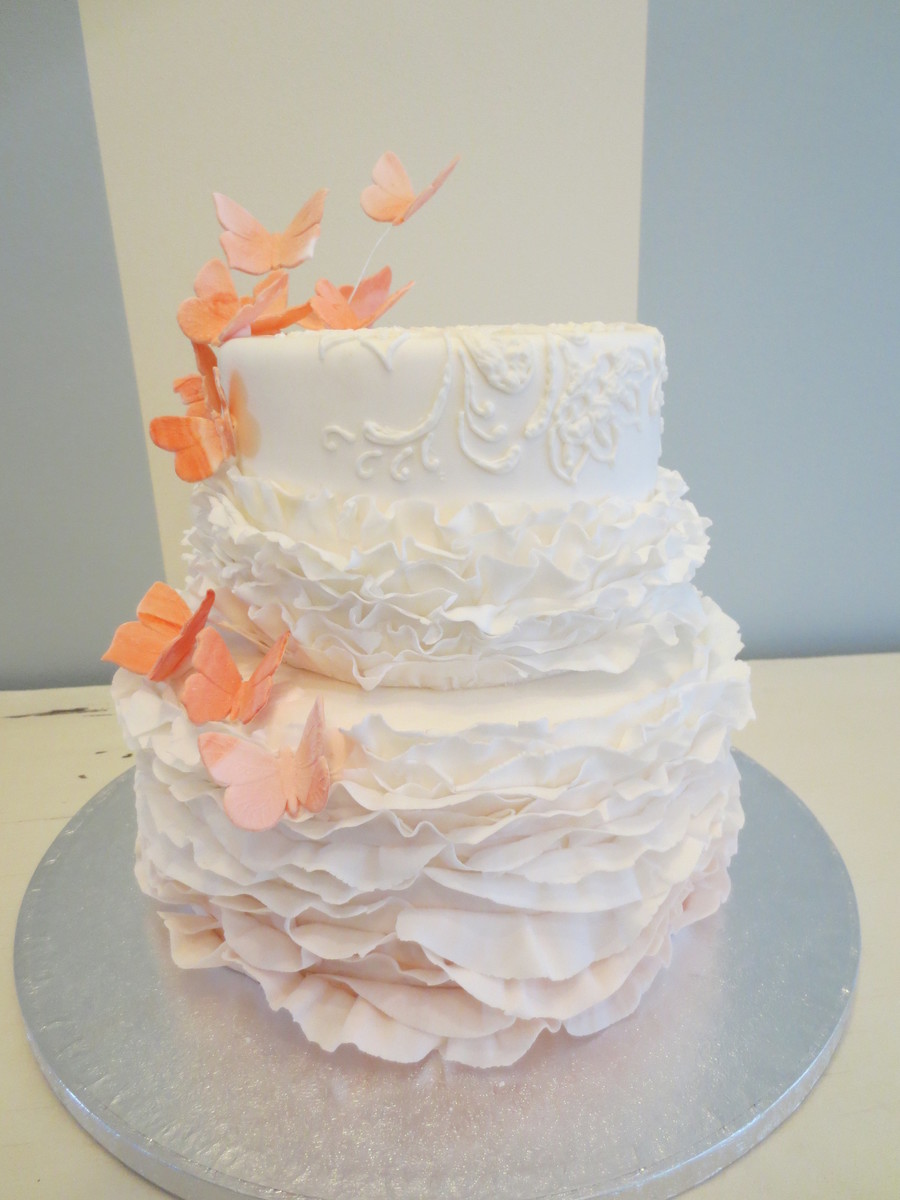 Frills And Butterflies  on Cake Central