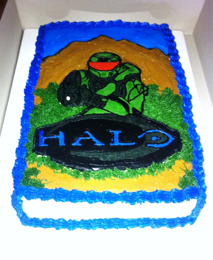 Terrific Halo Birthday Cake Cakecentral Com Funny Birthday Cards Online Alyptdamsfinfo