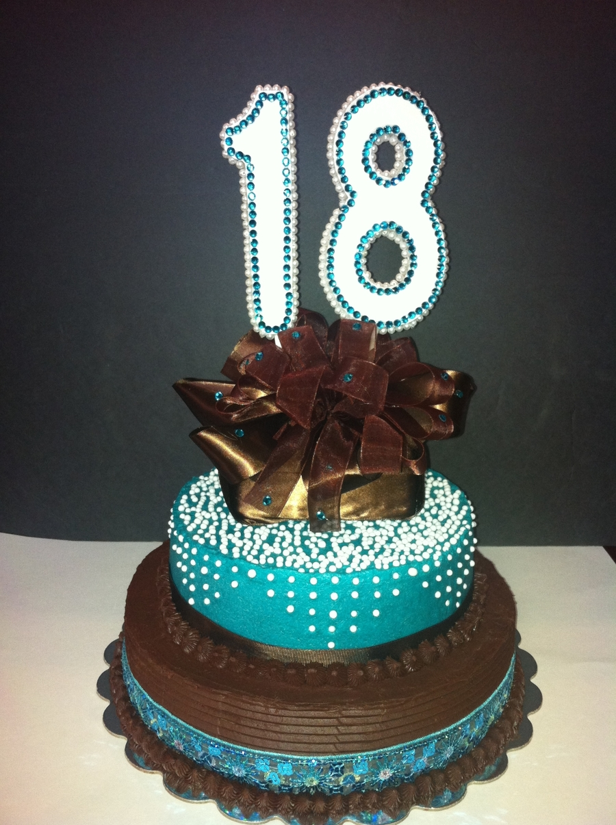 Eighteenth Birthday Cake on Cake Central