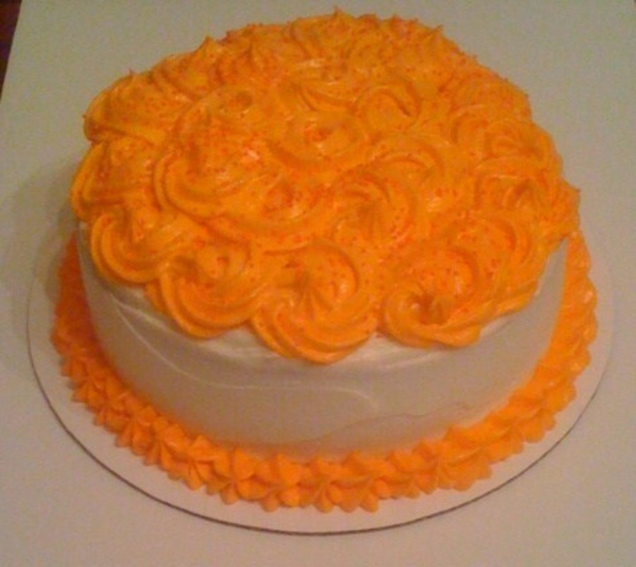 Orange Dreamsicle Cake on Cake Central