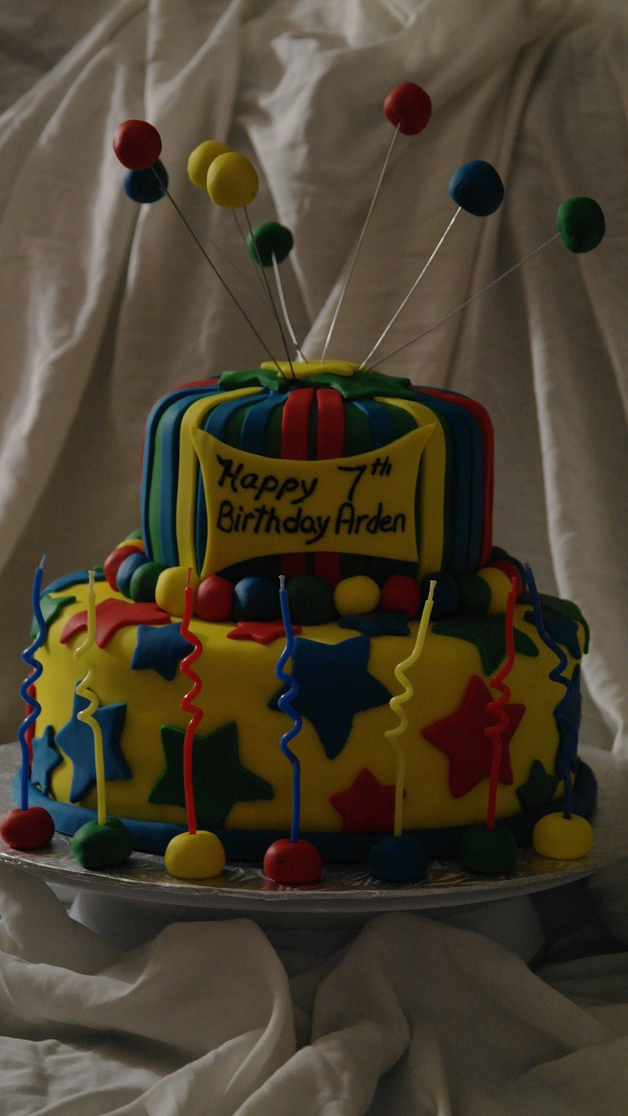 Groovy Primary Colours For A 7 Year Old Boy Cakecentral Com Funny Birthday Cards Online Hetedamsfinfo
