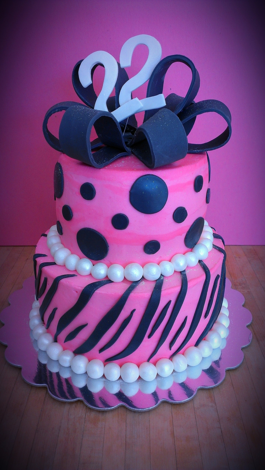 Zebra & Polka Dots on Cake Central