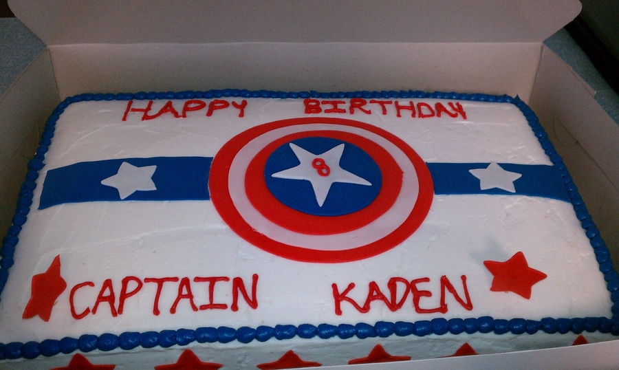 Superb Captain America Birthday Cake Cakecentral Com Funny Birthday Cards Online Elaedamsfinfo
