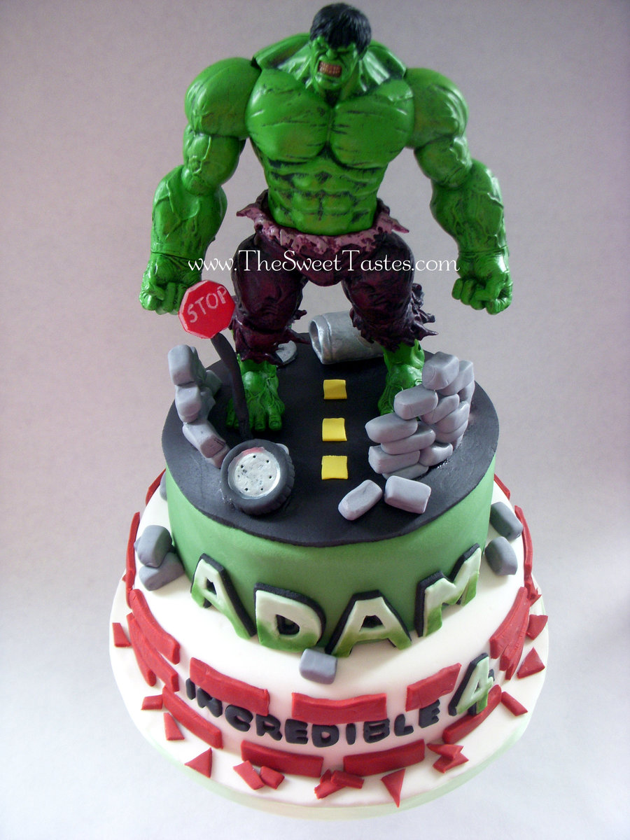 Incredible Hulk Birthday Cake Wwwthesweettastescom CakeCentralcom