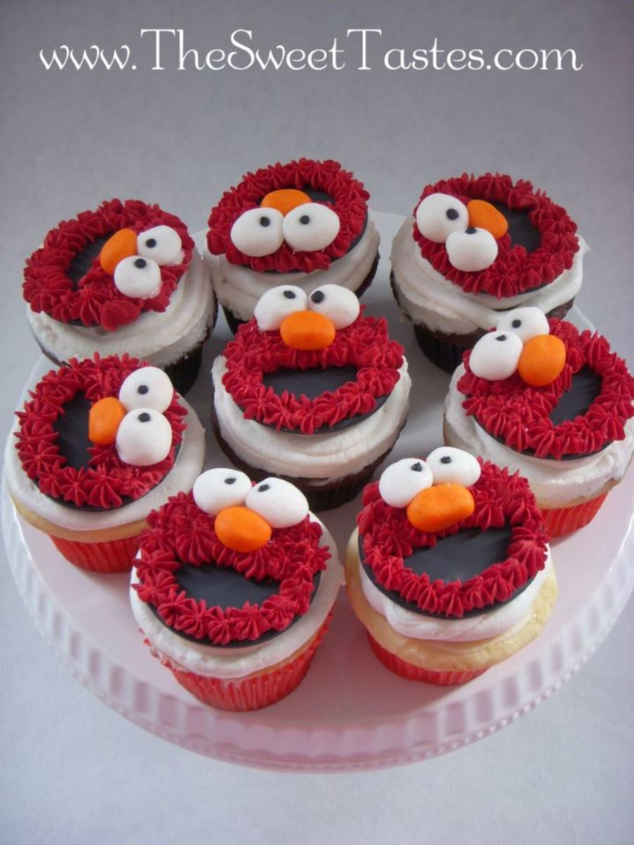Elmo Cupcakes From Wwwthesweettastescom on Cake Central