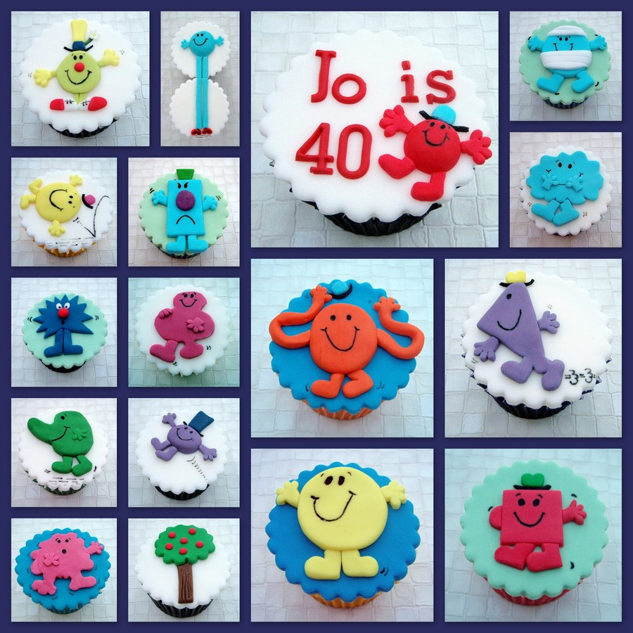 Mr Men Birthday Cupcakes on Cake Central