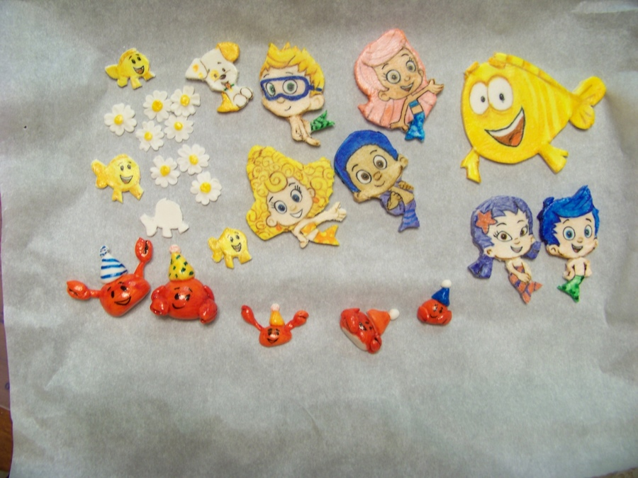 Bubble Guppies In Gumpaste - Pre-Cake Assembly on Cake Central