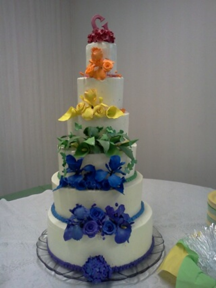 Summery Flowers on Cake Central