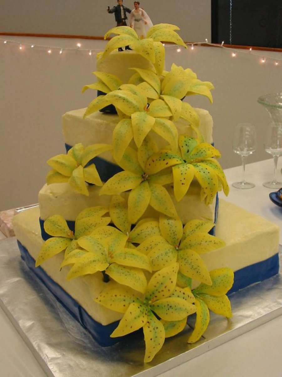 Yellow Stargazer Lilies on Cake Central