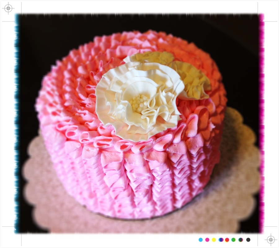 Baby Girl Ruffles! on Cake Central