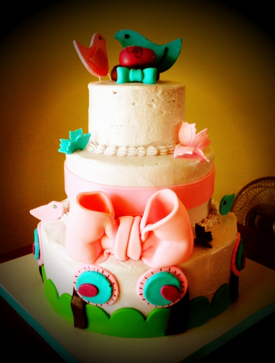 Love Birds Baby Shower on Cake Central