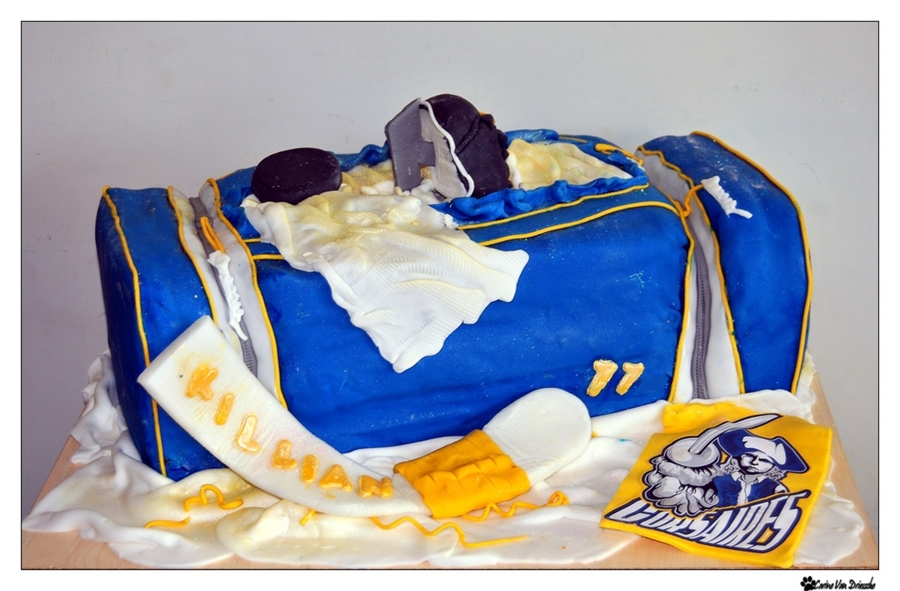 Hockey Cake on Cake Central
