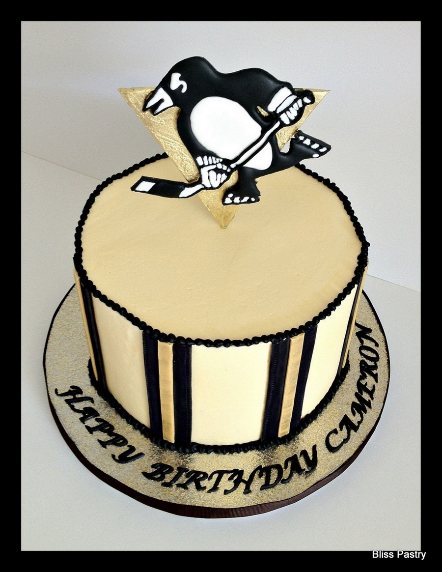 Pittsburgh Penguins Hockey Theme on Cake Central