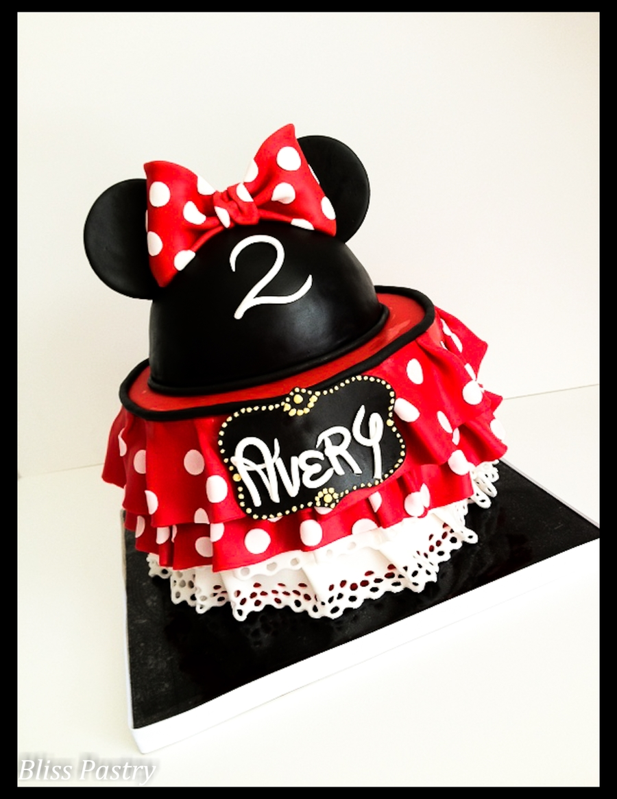 Red Ruffles And Polka Dots on Cake Central