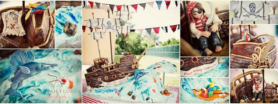Pirate Ship And Wave on Cake Central