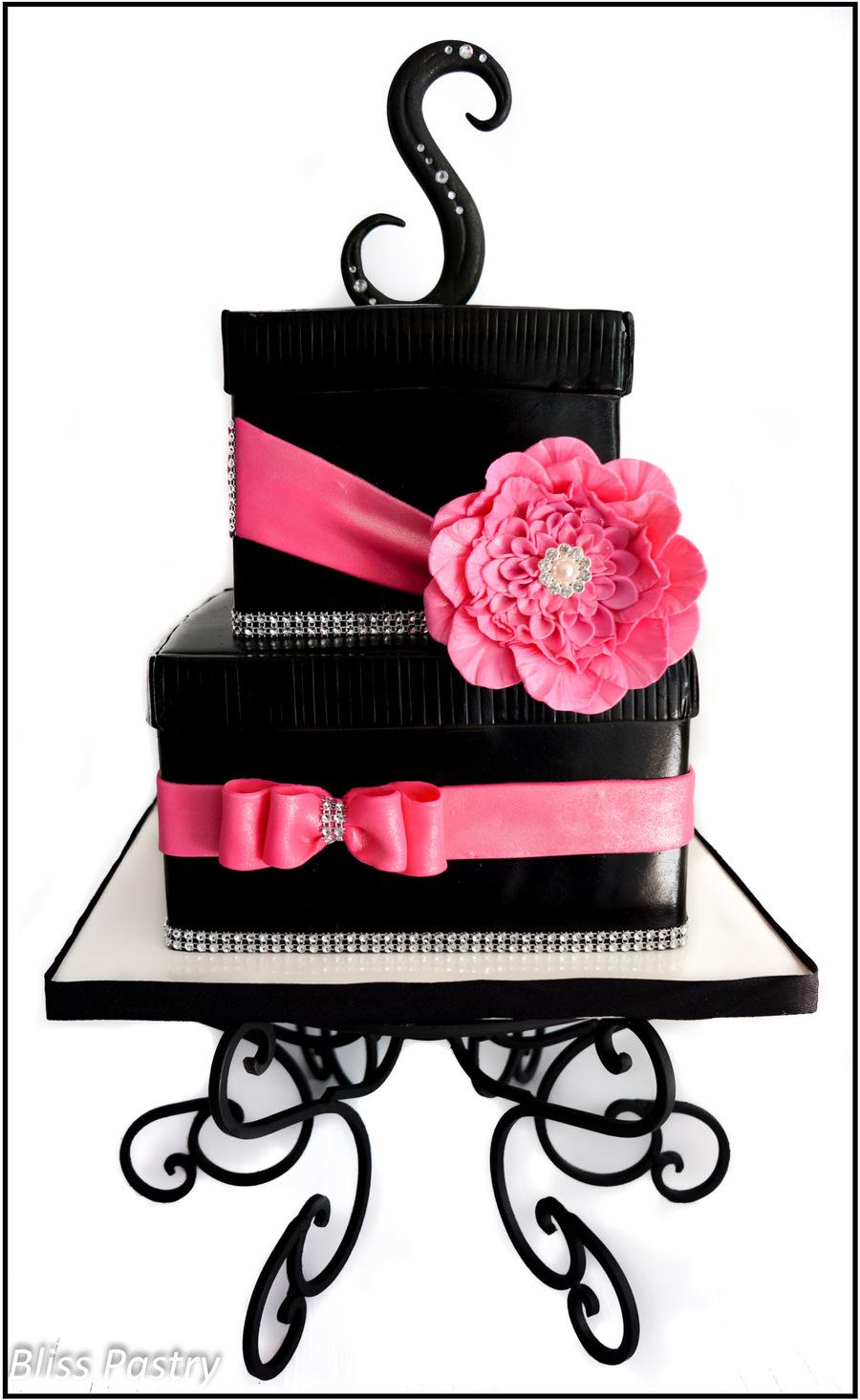 Bling Gift Box Birthday Cake Cakecentral Com