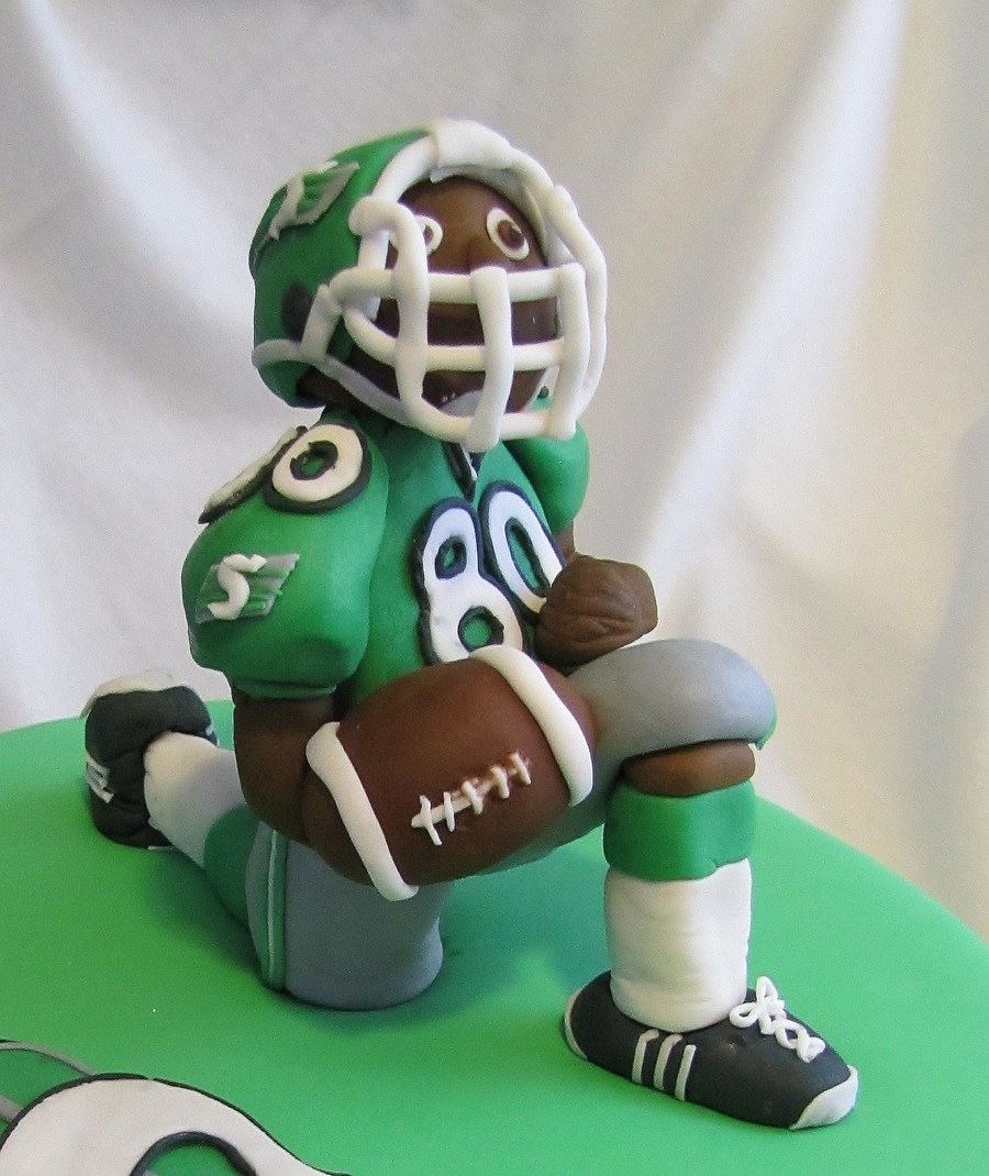 Saskatchewan Roughrider on Cake Central