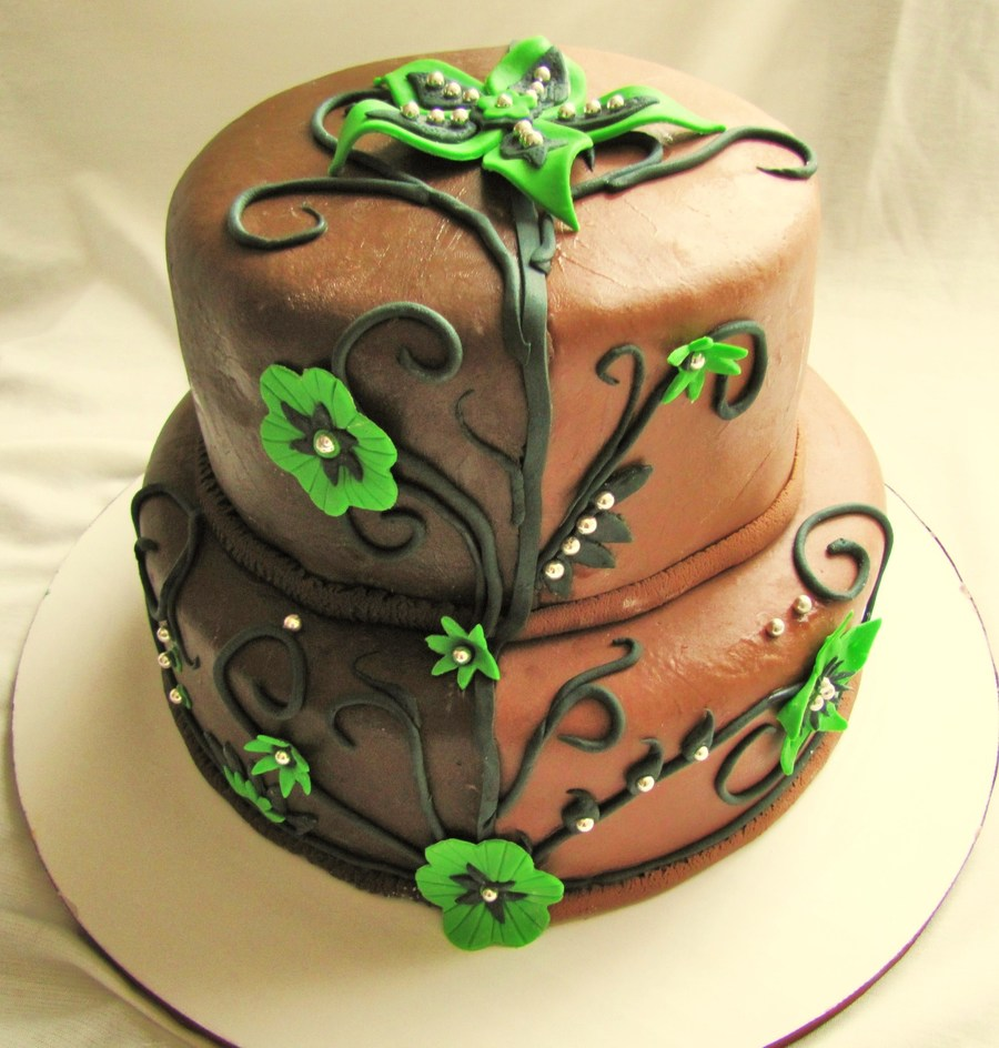 Brown And Green on Cake Central