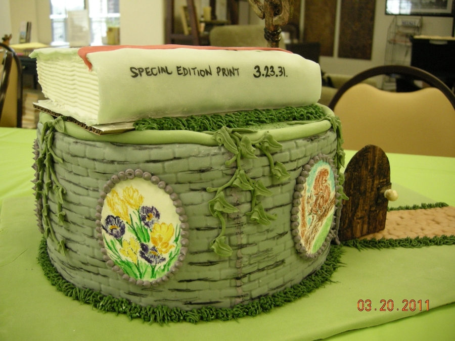 Secret garden birthday cake for Gardening 80th birthday cake